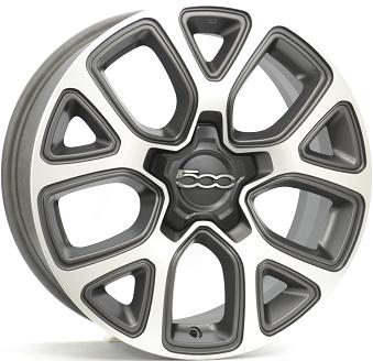 FIAT 500X ANTRACIET MAT / GEPOLIJST