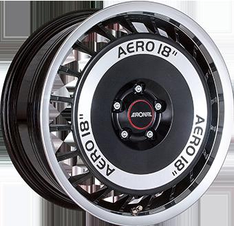 RONAL R50 AERO ZWART GLANS / GEPOLIJST
