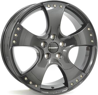 Shop 18 Inch Irmscher Sport Star Gloss Black Alloy Wheels